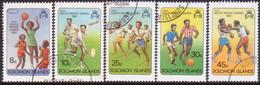 SOLOMON ISLANDS 1981 SG #439-44 Compl.set+m/s Used Mini South Pacific Games - Salomon (Iles 1978-...)