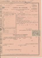 Carte De Saillie 1891 - Elevage, Chevaux, Haras - Unclassified