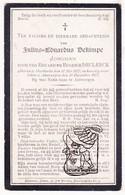 DP Natie Baas Antwerpen - Julius Ed. Dekimpe / Declerck 32j. ° Meetkerke Zuienkerke 1875 † Antwerpen 1907 - Images Religieuses