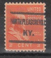 USA Precancel Vorausentwertung Preo, Locals Kentucky, North Pleasureville 607 - Vereinigte Staaten
