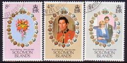 SOLOMON ISLANDS 1981 SG #445-47 Compl.set Used Royal Wedding - Solomon Islands (1978-...)