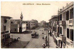 EGITTO - HELIOPOLIS ABBAS BOULEVARD - TRAM FILOBUS - VG 1917 FP - C136 - Non Classificati