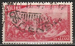 1948 Centenario Del Risorgimento - 20 Lire - Usato - 6. 1946-.. Republic