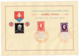 Slovakia, Andrej Hlinka 1939 Special Leaf/MC FDC Imperf Stamps B190801 - Slovakia