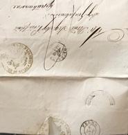 1852 SAN BENEDETTO  II TIPO V-AZZ  PER GROTTAMMARE - 1. ...-1850 Prefilatelia