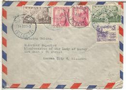 BERRIZ VIZCAYA CC A USA AL DORSO MAT AMBULANTE SAN SEBASTIAN BILBAO 1940 - 1931-50 Lettres
