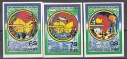 1982 Yvert Nº 700 / 702 MNH,  5to Aniversario De CEDEAO, Mapa De Los Paises Miembros - Guinee (1958-...)