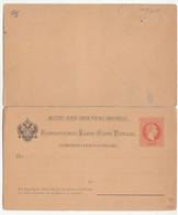 Austria UPU Postal Stationery Postcard With Answer Correspondenz-Karte Unused B190801 - Interi Postali