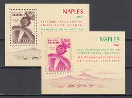 """1967  Yvert Nº HB 8 / 9   MNH, Exposición De Sellos De Los Estados Africanos - Nápoles, """"Europa"""" - Rwanda"""
