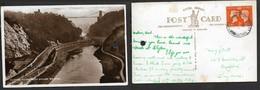 England, Bristol, Clifton Suspension Bridge,used, 2d,   RHEWL RUTHIN DENBIGHSHIRE  -- JY 40 > Bedford - Bristol