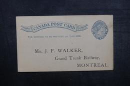 CANADA - Entier Postal Commercial ( Grand Trunk Railway ) Pour Montréal En 1891 - L 40611 - 1860-1899 Regering Van Victoria