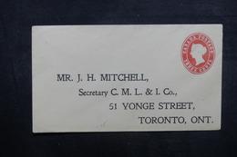 CANADA - Entier Postal Commercial Non Circulé - L 40612 - 1860-1899 Regering Van Victoria
