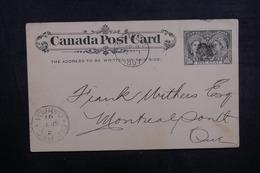 CANADA - Entier Postal  De Quebec Pour Montréal En 1897 - L 40614 - 1860-1899 Regering Van Victoria