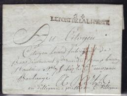 France, Morbihan - 54/Le Port De La Liberté (nom Révolutionnaire De Port Louis Sur LAC De L'an 2 - Indice 18 - Marcophilie (Lettres)