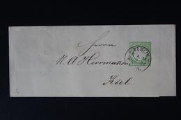 DEUTSCHE REICH: STREIFBAND S3 1872   BERLIN -> KIEL - Stamped Stationery