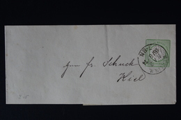 DEUTSCHE REICH: STREIFBAND S3 1872   BERLIN -> KIEL - Germania
