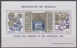 Monaco 1996 Musée Des Timbres Et Ds Monnaies M/s  ** Mnh (44342) - Blokken