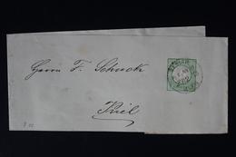 DEUTSCHE REICH: STREIFBAND S3 1872   BERLIN -> KIEL - Deutschland