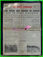 LE PETIT JOURNAL - Edition De Paris N° 27.989 Mercredi 6 Septembre 1939 - Début De La Guerre - Giornali