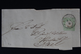 DEUTSCHE REICH: STREIFBAND S3 1872   HAMBURG -> KIEL - Deutschland