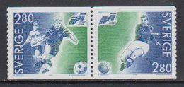 Sweden 1992 European Championship Football 2v (se Tenant)  ** Mnh (44343) - Europese Gedachte