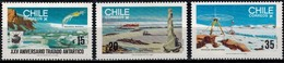 MVS-BK1-293 MINT ¤ CHILI 1985 3w In Serie ¤ MARITIEM - VOILIERS - ZEILSCHEPEN - SAILING SHIPS OVER THE WORLD - Maritiem