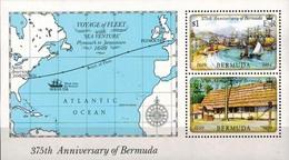 MVS-BK1-294-2 MINT ¤ BERMUDA 1984 BLOCK ¤ MARITIEM - VOILIERS - ZEILSCHEPEN - SAILING SHIPS OVER THE WORLD - Maritiem