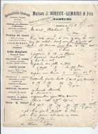 Facture Lquincaillerie Boreux à Namèche/andenne - Belgique