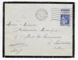 1939 - BANDE PUB BYRRH TYPE PAIX Sur ENVELOPPE De BOULOGNE (PAS DE CALAIS) - Publicités