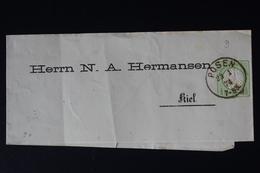 DEUTSCHE REICH: STREIFBAND  S3 PRIVAT DRUCK HERMANSEN  POSEN -> KIEL - Allemagne