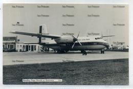 Jersey Airlines Handley Page Herald At Guernsey Airport By Guernsey Press 1960s Postcard  G-APWA - 1946-....: Era Moderna