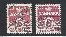 Dänemark 1938, Mi.-Nr. 244 X+y, Gestempelt - 1913-47 (Christian X)