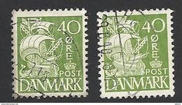 Dänemark 1933, Mi.-Nr. 207, Type I + II, Gestempelt - 1913-47 (Christian X)