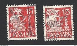 Dänemark 1933, Mi.-Nr. 202 Type II + III, Gestempelt - 1913-47 (Christian X)