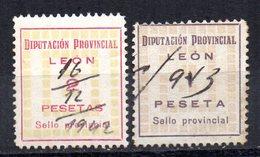2 Viñetas Diputacion Provincial De Leon. - España