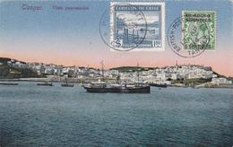 "CPA Maroc - Tanger - Vista Panoramica - Timbre Du Chili + Timbre ""Morroco Agencies"" - 5 Centimes - 1939 - Tanger"