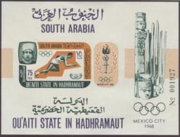 Aden, Qu'aiti State In Hadhramaut, 1967, International Cooperation Year, Olympics, United Nations, MNH, Michel Block 7B - Ver. Arab. Emirate