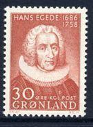GREENLAND 1958 Hans Egede Bicentenary MNH / **.   Michel 42 - Ungebraucht