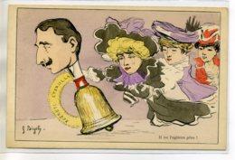 """ILLUSTRATEUR  G BIGOT  Carte RARE Homme """" CLochette """" """" Il Ne L'agitera Plus  élégantes Jeunes Femme Mode 1900/D20-S2017 - Bigot"""