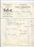 Facture Carrosserie Jasselette  à Huy - Belgique