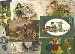 Lot 2030 De 10 CPA Fantaisies Gaufrées Embossed Illustrateurs Déstockage Pour Revendeurs Ou Collectionneurs - 5 - 99 Karten