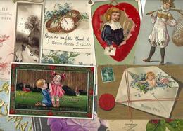 Lot 2032 De 10 CPA Fantaisies Gaufrées Embossed Illustrateurs Déstockage Pour Revendeurs Ou Collectionneurs - 5 - 99 Karten