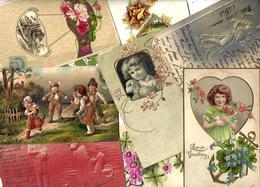 Lot 2033 De 10 CPA Fantaisies Gaufrées Embossed Illustrateurs Déstockage Pour Revendeurs Ou Collectionneurs - 5 - 99 Karten