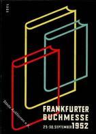 FRANKFURT/Main - Frankfurter BUCHMESSE 1952 - Künstlerkarte Sign. Edel I - Ansichtskarten
