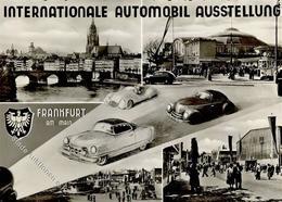 FRANKFURT/Main - INT. AUTOMOBIL-AUSSTELLUNG 1953 Mit S-o I - Ansichtskarten