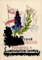 FRANKFURT/Main - LANDWIRTSCHAFTLICHE AUSSTELLUNG 1948 Mit S-o I - Ansichtskarten
