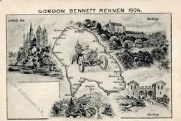 Gordon-Bennett-Rennen Künstlerkarte 1904 I-II - Ansichtskarten