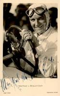 Motorsport Manfred V. Brauchitsch Autogramm Foto AK I-II - Ansichtskarten