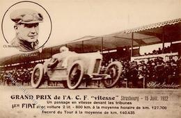 Motorsport Strasbourg (67000) Frankreich Meurisse, Cl. Grandprix De 1'A. C.F. Vitesse I-II - Ansichtskarten