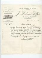 Facture Denree Coloniale-petrolifère Hutoise- Dubois à Huy - Belgique
